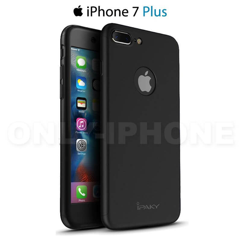 coque int grale noire iphone 7 plus avec verre tremp only iphone. Black Bedroom Furniture Sets. Home Design Ideas