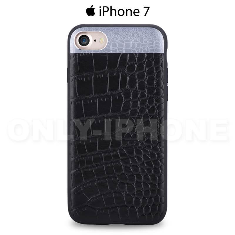 coque iphone 7 croco comma bleu