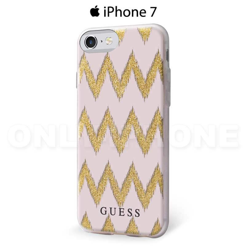 Coque iPhone 7 GUESS chevrons semi rigide
