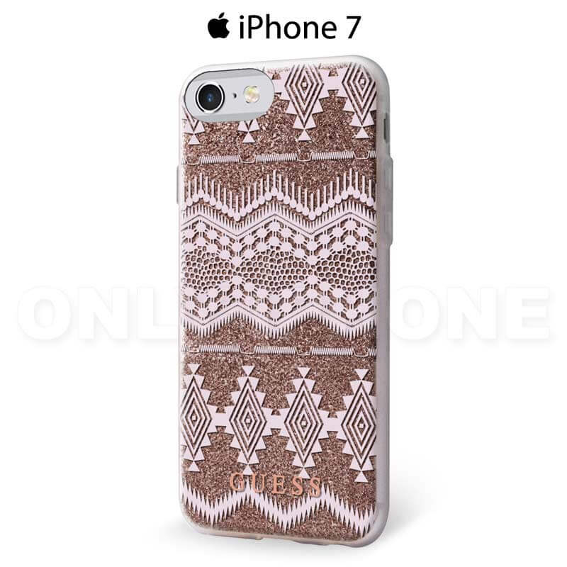 Coque iPhone 7 GUESS tribal semi rigide