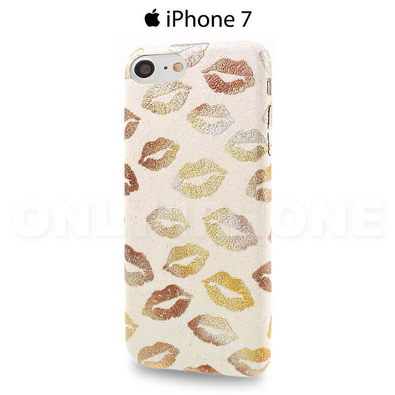 Coque iPhone 7 Kiss beige