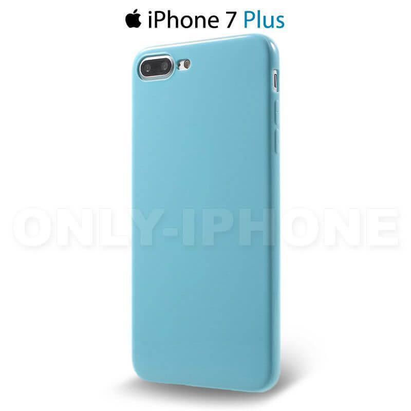 coque iphone 7 plus souple tpu bleu