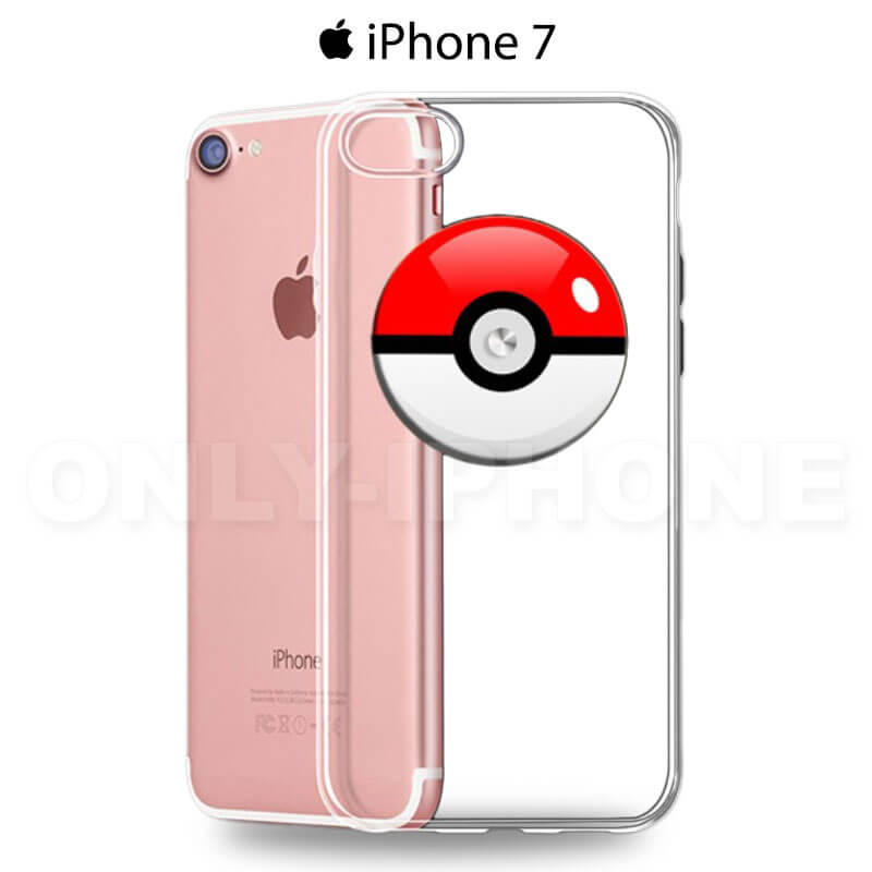 Coque iPhone 7 Pokemon go poke ball