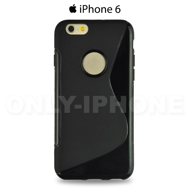 Coque S-Style Silicone iPhone 6S Noir