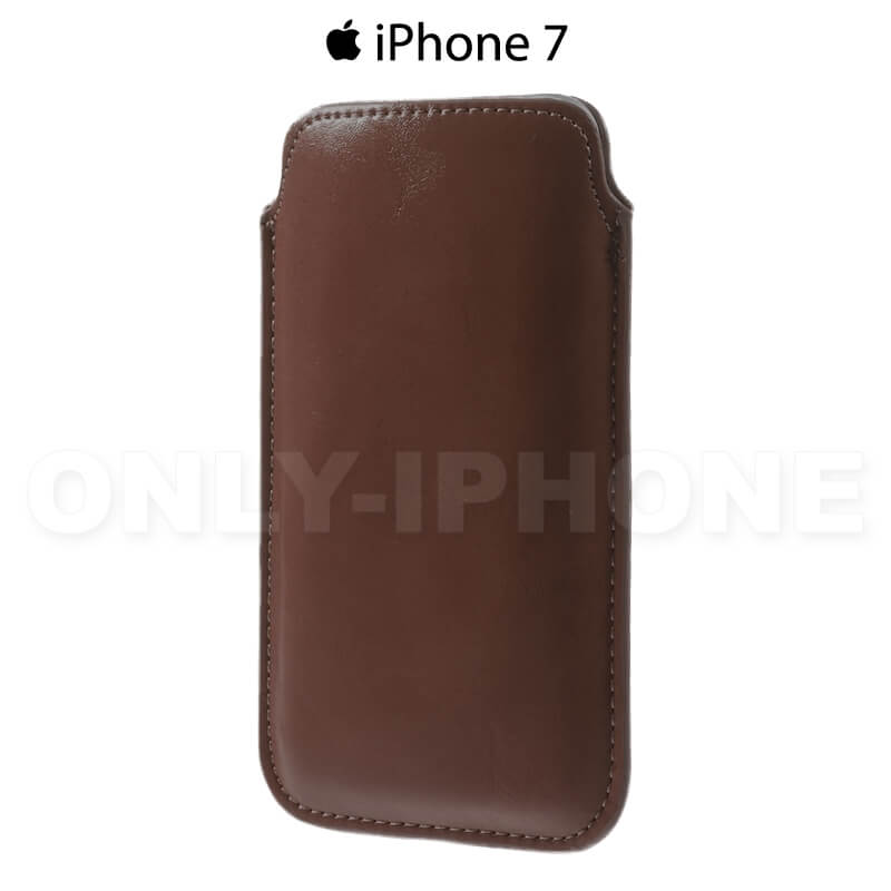 housse iphone 7 marron