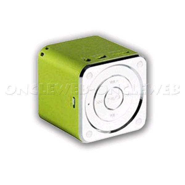 mini haut parleur portable usb radio fm vert only iphone. Black Bedroom Furniture Sets. Home Design Ideas