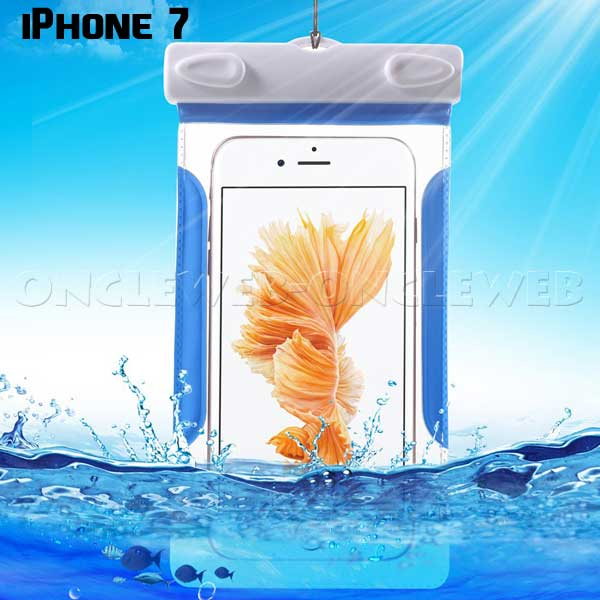 Housse iPhone 7 waterproof bleue